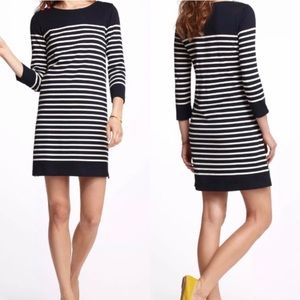 Allihop Anthropologie black & white striped dress